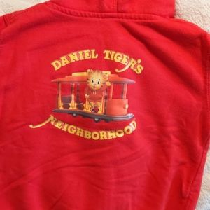 Daniel Tiger's Neighborhood hooded sweatshirt 2t